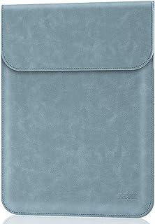 TECOOL 13-13.3 Pulgadas Funda Ordenador Portátil,Cuero de Gamuza Protector de Bolsa para 2010-2017 Macbook Air 13 A1466/A1369, 2012-2015 Macbook Pro 13 A1502/A1425, Matebook X Pro,Neblina Azul