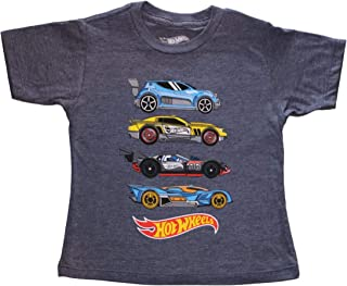 Hot Wheels Little Boys' Toddler Four Car Stack Tee