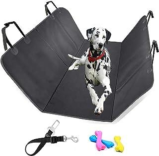 Sitzbezug für Hunde SICIFALY   Auto Hundedecke für Rückbank und Kofferraum 150 x 135 cm   Wasserfest Autoschondecke + Sicherheitsgurt für Hund