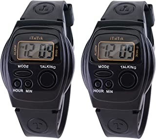 Two Pieces of Spanish Talking Watch for The Blinds Seniors Elderly Visual Impaired for Ladies and Gentlemen