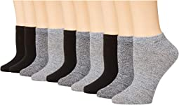 10-Pack Solid Marl Low Cut Socks