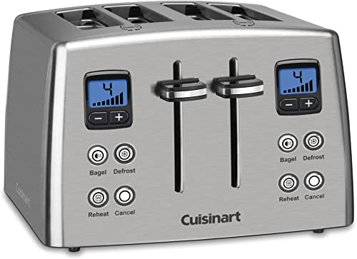 new arrival Cuisinart online CPT-435 Countdown discount 4-Slice Brushed Stainless Steel Toaster outlet sale