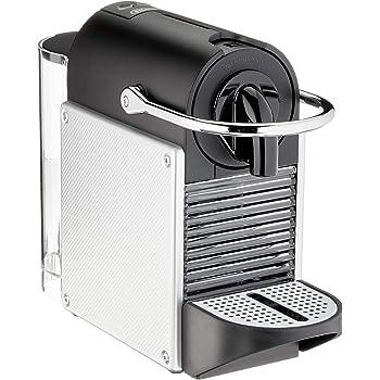 De'Longhi Nespresso EN 124 EN124.S Machine à Capsules Pixie 1260 W Parois Latérales Aluminium en Capsules Recyclées, Argent