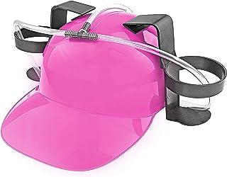 Fairly Odd Novelties Beer Soda Guzzler Helmet Drinking Party Hat, Pink