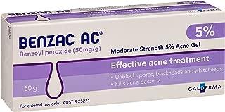 Benzac AC 5.0% Moderate Acne Gel, 50g
