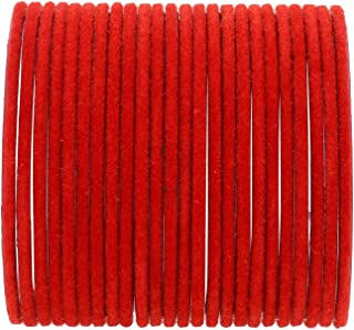 Archi Collection Fashion Jewellery Red Velvet Bangle Set