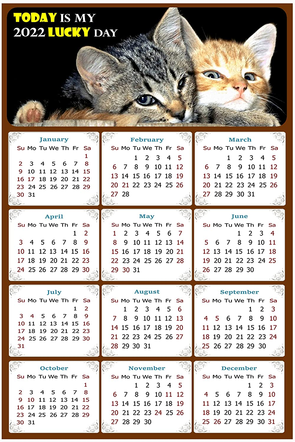 2022 Magnetic Calendar Chicago Mall - Magnets Today Lucky Da is my