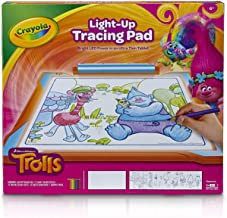 Crayola Trolls Light-Up Tracing Pad, Coloring Board for Kids, Gift, Toys for Girls, Ages 6, 7, 8, 9