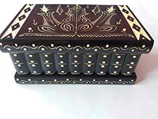 Enorme scatola di puzzle nero gigante scatola di gioielli magica premium regalo del tesoro nuova scatola molto grande caso...