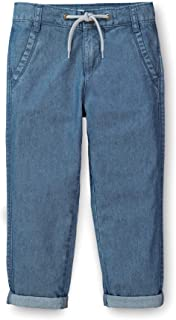 Hope & Henry Boys Rolled Cuff Pant with Drawstring Made with Organic Cotton