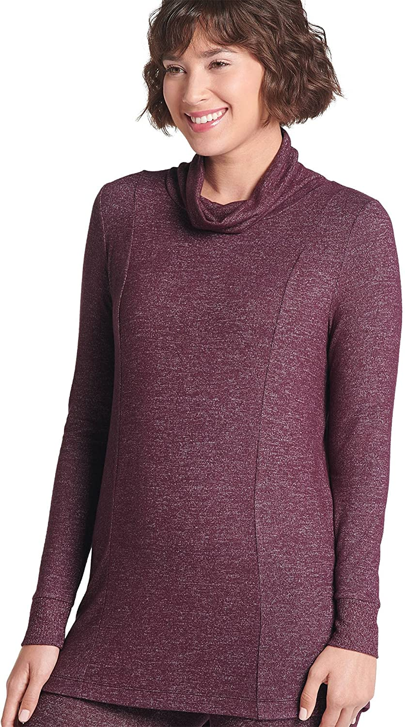 Jockey Women's Activewear ! Super beauty product restock quality top! Ribbed Cowl Wholesale Tunic Neck Sleeve