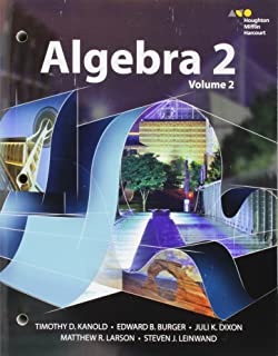 Interactive Student Edition Volume 2 2015 (Hmh Algebra 2)