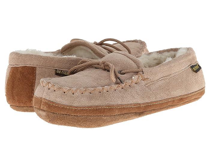 Old Friend  Soft Sole Moc (Chestnut W/Natural Fleece) Womens Shoes