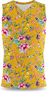 Rainbow Rules Floral Chinoiserie Mens Sleeveless Tank Top