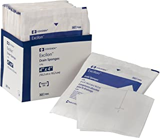 "Covidien 7086 Excilon Drain Sponge, Sterile 2's in Peel-Back Package, 4"" x 4"", 6-ply (Pack of 50) - 1 box"