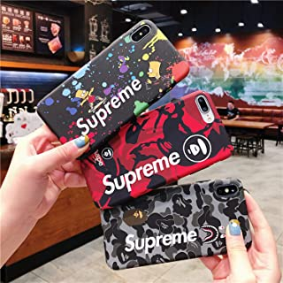 Shark Teeth Softshell Silicone Case for iPhone 6 7 8 Plus X XR XS MAX - Red Camouflage Shark Jaw - Street Fashion Case (Bart Simpson, for iPhone 6 6s)