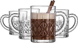 Mug Hot Beverage Coffee Hot Chocolate Cup Edison by Godinger - 13.5 oz - Set of Four