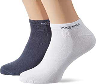 BOSS Mens 2P AS Color CC Two-pack of cotton-blend ankle socks with logo cuffs