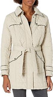 Balakie 2019 Womens Winter Hooded Coat Trench Long Jacket Solid Belted Windbreaker Parka