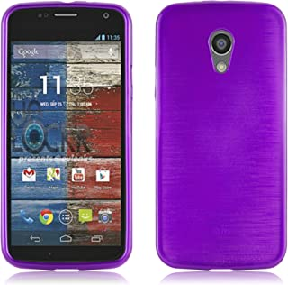 Cadorabo Case Works with Motorola Moto G2 in Purple – Shockproof and Scratch Resistant TPU Silicone Cover – Ultra Slim Protective Gel Shell Bumper Back Skin