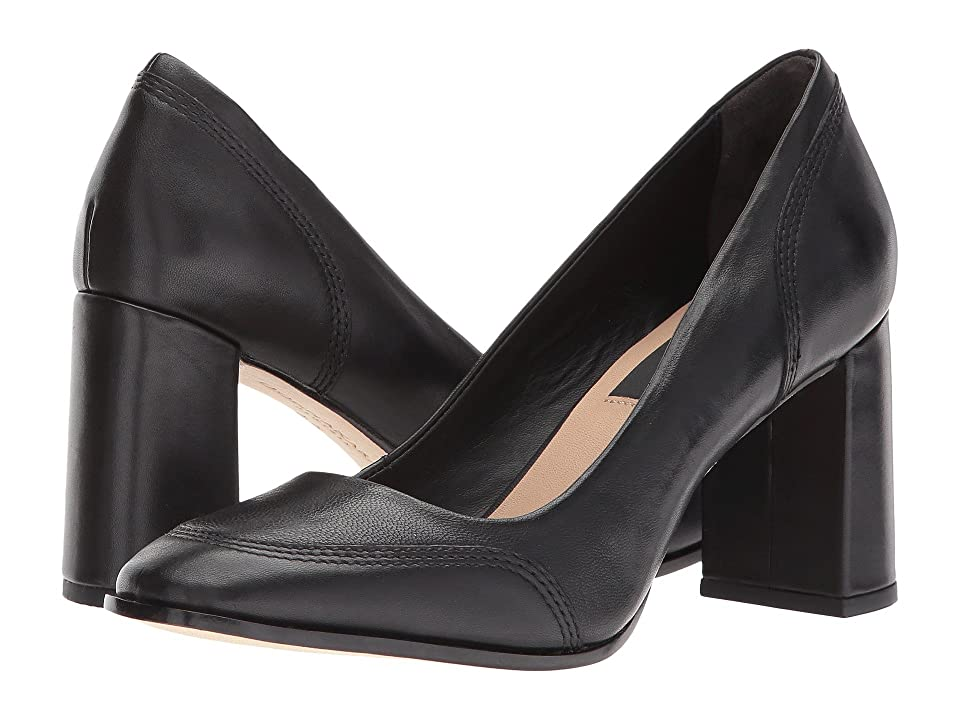 Donna Karan Shelby 75mm Pump (Black Sheep Nappa Leather) High Heels