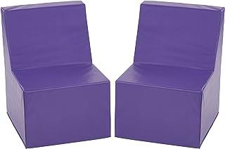 ECR4Kids Softzone Toddler Chair, Purple (2-Pack)