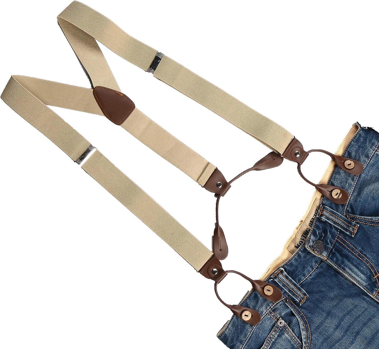 Jixianfeng Suspenders Braces Men's Adjustable Button Holes 1.4