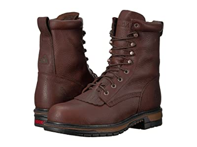 Rocky 8 Original Ride Steel Toe WP (Dark Brown) Men