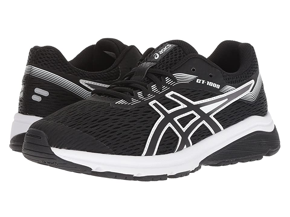 ASICS Kids GT-1000 7 (Big Kid) (Black/White) Boys Shoes
