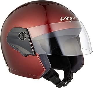 Vega Cruiser Burgundy Helmet, L