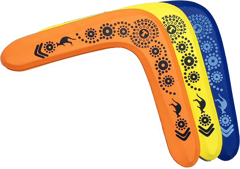 3 NAPA Foam Boomerangs - Safe Kids Boomerang for Sale for Light