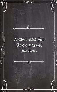 A Checklist for Stock Market Survival