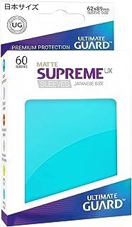 Ultimate Guard Supreme Japanese UX Card Sleeves (60 Piece), Matte Aquamarine