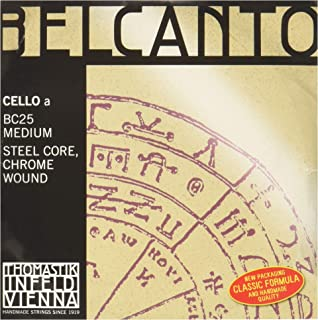 Thomastik-Infeld BC25 Belcanto Cello Strings, Single A String, BC25, 4/4 Size, Steel Core Chrome Wound