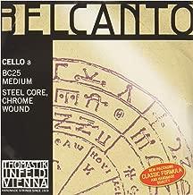 Thomastik-Infeld BC25 Belcanto Cello Strings, Single A String, BC25, 4/4 Size, Steel Core Chrome Wound