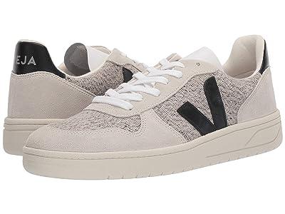 VEJA V-10 (Snow/Black Flannel) Athletic Shoes