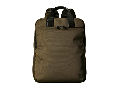 KNOMO London Brompton James Tote Backpack (Deep Army Green) Backpack Bags