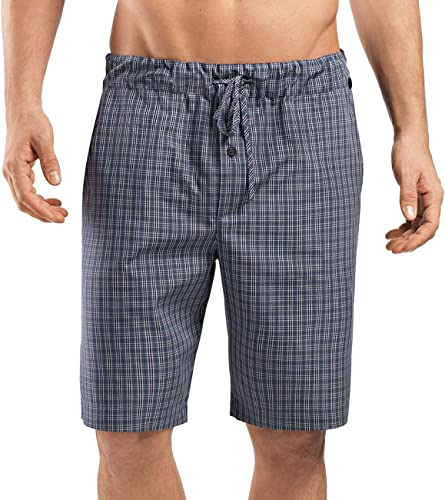 HANRO Hommes's Night & Day courte Woven Pant, gris Check, petit