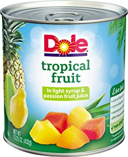 DOLE Mixed Tropical Fruit in Light Syrup & Passion Fruit Juice, 15.25 Ounce Can