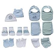 Little Me 13 Piece Take Me Home Set, Blue/White, 0-12 Months