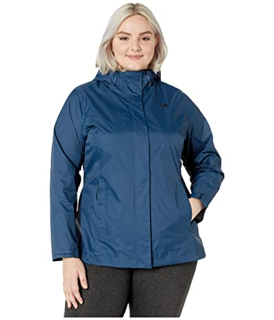 The North Face Plus Size Venture 2 Jacket (Blue Wing Teal) Women