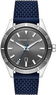 Michael Kors Layton Men's Grey Dial Silicone Analog Watch - MK8818