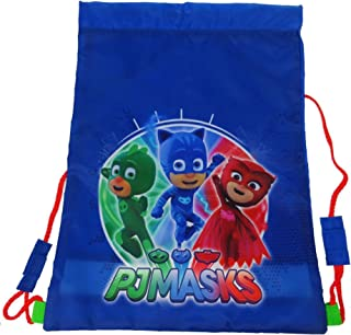 Boys PJ Masks Drawstring Sports Trainer Bag Blue 1.3 Litres
