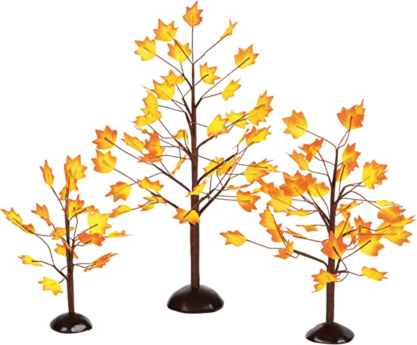 Department 56 Village Autumn Maple Trees Set Of 3