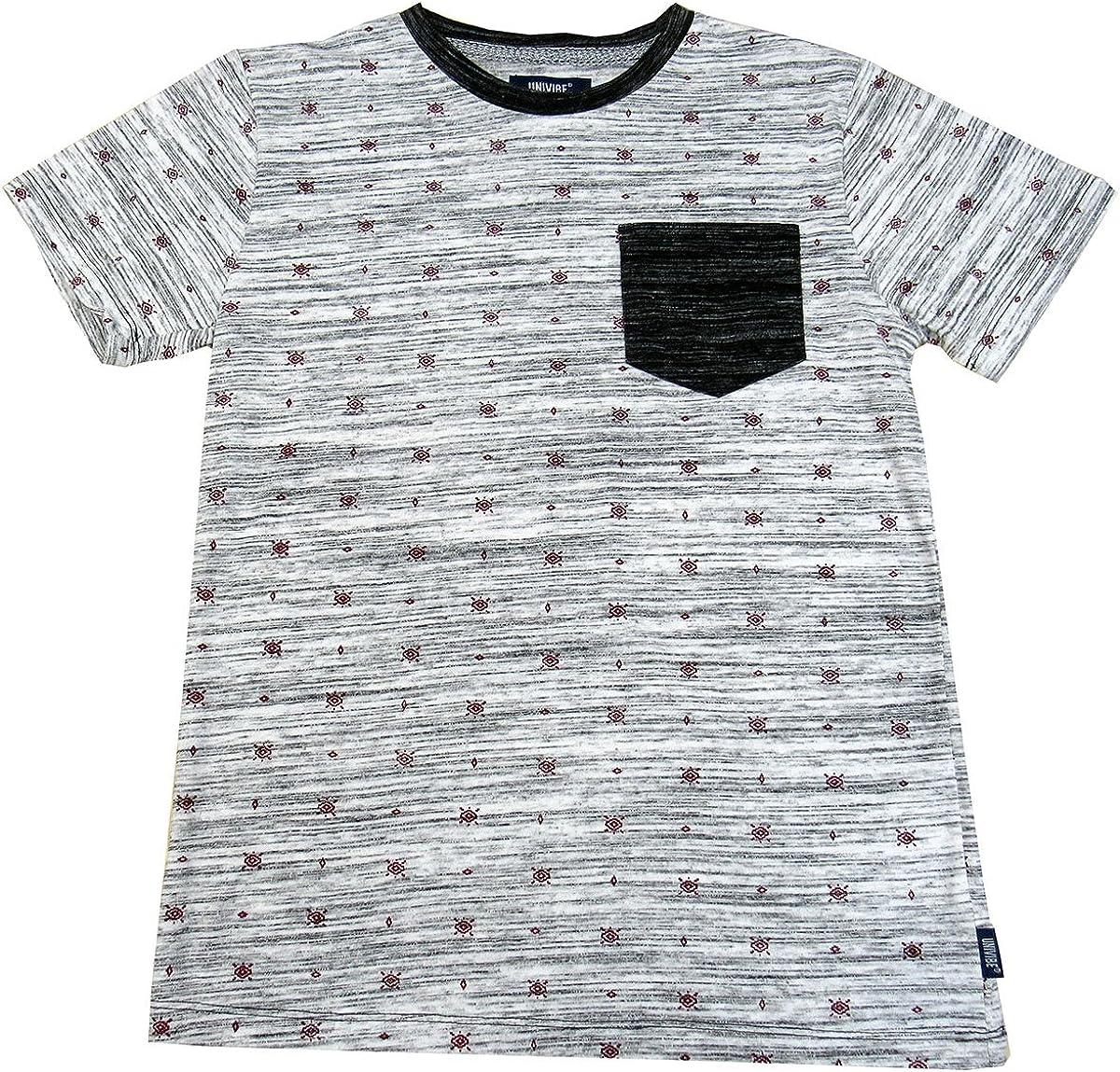 Univibe Big Boys' (8-20) Contrast-Pocket Luna T-Shirt Medium White