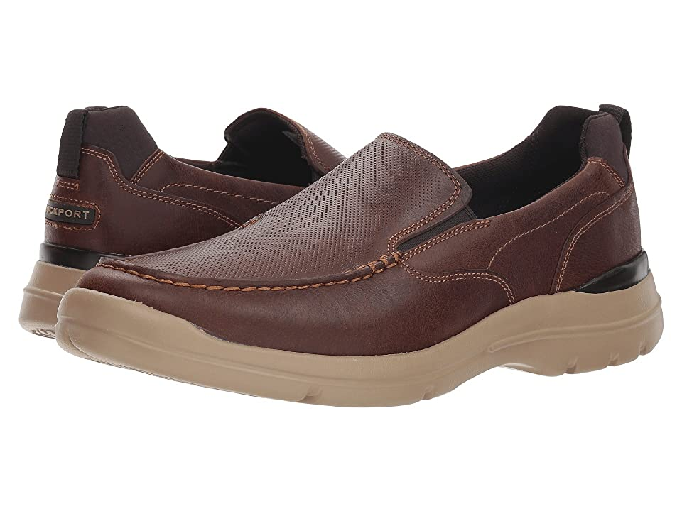 Rockport City Edge Slip-On (Boston Tan Leather) Men's Shoes