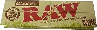 5 booklets RAW Organic Regular Single Wide hemp papers オーガニックヘンプ、ローリングペーパー70mm 5冊セット [並行輸入品]