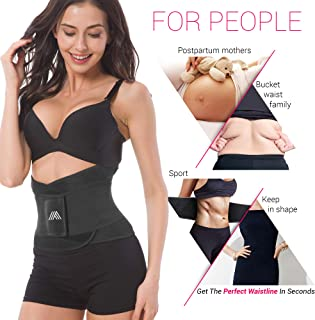 Adjustable Back Support Belt for Women - Abdominal Elastic Waist Ab Cincher Trainer Trimmer - Neoprene Hourglass Slimming Body Shaper Sport Girdle for Weight Loss Sweet Sweat Compression Band Workout