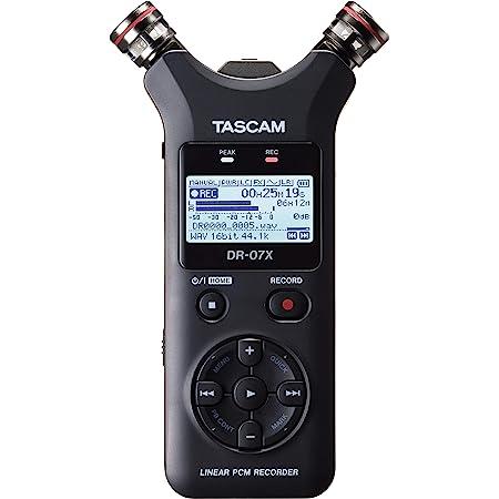 TASCAM タスカム - USB オーディオインターフェース搭載 ステレオ リニアPCMレコーダー DR-07X