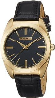 [ブルッキアーナ]BROOKIANA 天然ダイヤモンド ブラック×ブラックレザー BAV003-GBLBK メンズ 腕時計